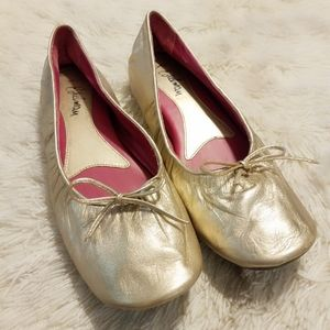 Sam Edleman Gold Ballet Flats Size 8.5